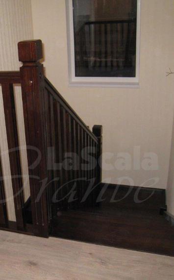 лестница в дом на второй этаж из дуба