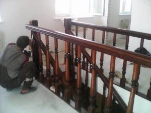 ограждение дубовая лестница с резным столбом lascala grande