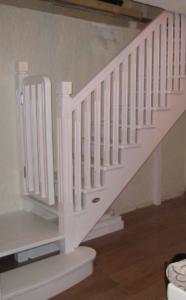 лестница с калиткой безопасности