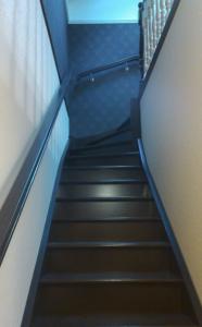 Деревянная лестница в дом, чёрная речка
