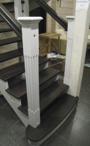 лестница из сосны в дом