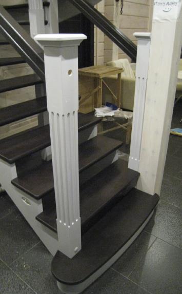 Лестница из сосны - производство ласкалагранде.бай