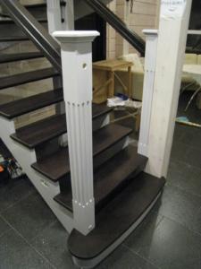 Лестница из дерева скандинавский дизайн заказать Минск