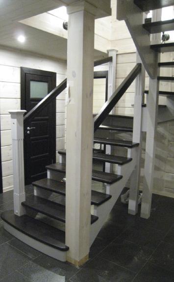Изготовление деревянных лестниц на второй этаж на заказ Минск