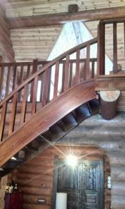 Деревянная лестница в Раубичах