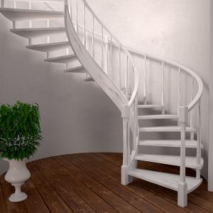 винтовая малогабаритная лестница в дом на больцах, Производство lascalagrande, Беларусь