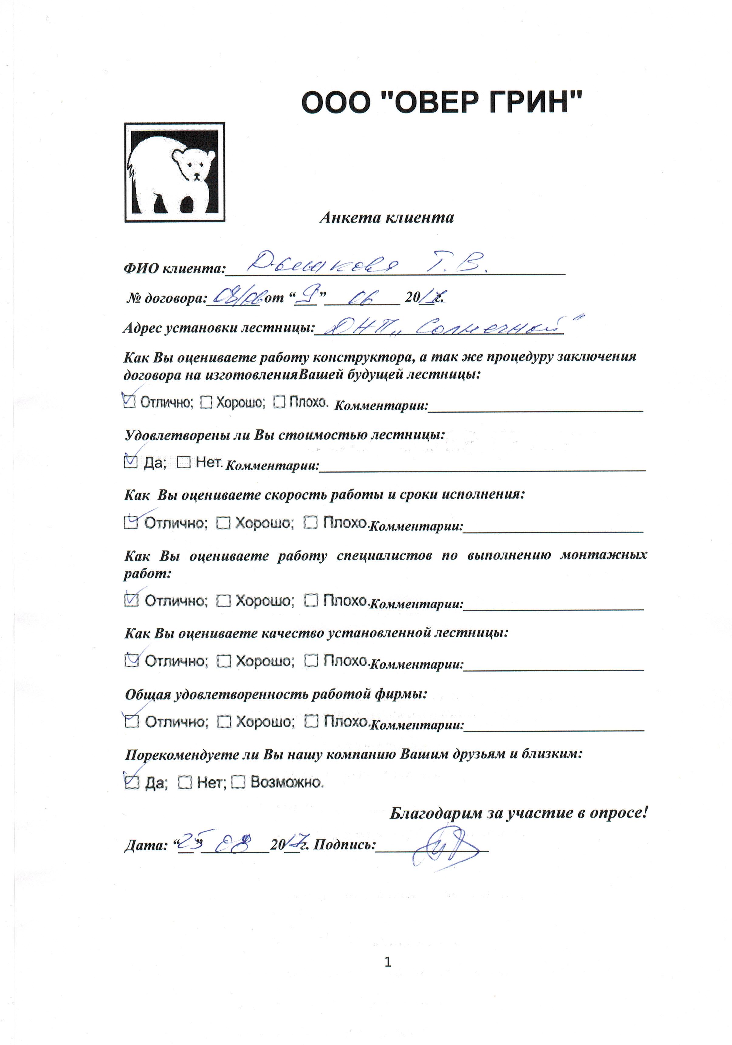 Отзыв о работе LascalaGrande.by