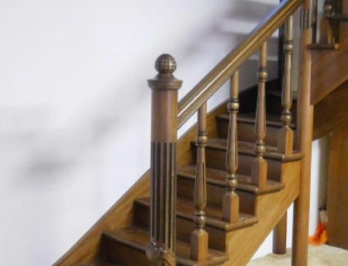 Дубовая лестница на второй этаж Могилев