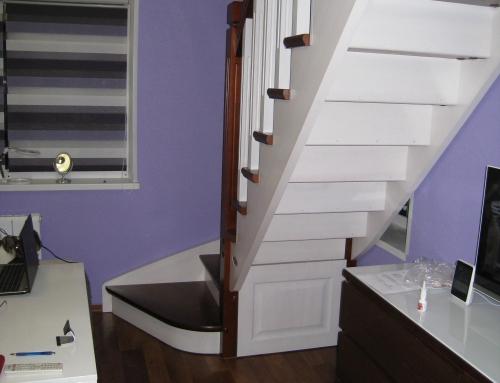 Изготовление деревянной лестницы в дом